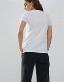 Brushed Heavy Jersey V-neck T-shirt