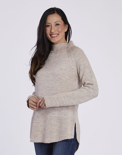 Mockneck Tunic Sweater