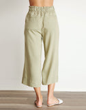 Button Front Crop Pant