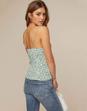 Button Front Wrap Cami