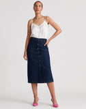 Button Thru Midi Skirt