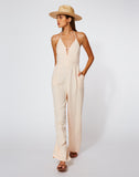 Callie Jumpsuit in Guava Pigment
