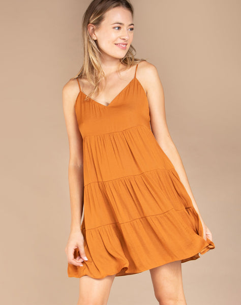 CASEY FLARED TIERED DRESS