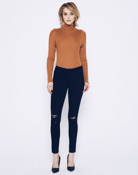 OLIVIA-NYLA - Ripped Black Skinnies.