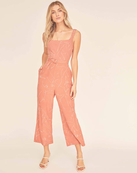 Chasse Sketch Wide Leg Jumpsuit
