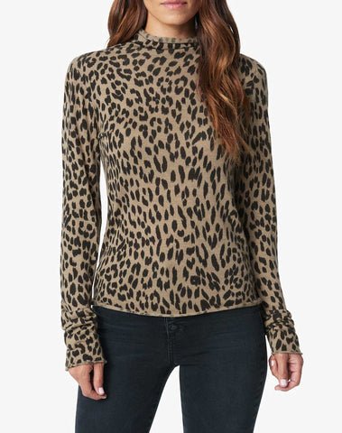 Cheetah Turtleneck Sweater