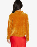 Chenille Mock Neck Sweater Fools Gold