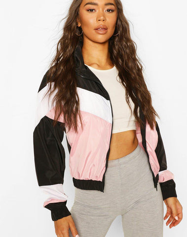 Chevron Panelled Windbreaker