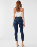 Chrissy Cropped Ultra High Rise Skinny | Prussia