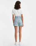 Cinched Shorts Jacquard Palms Medium Wash