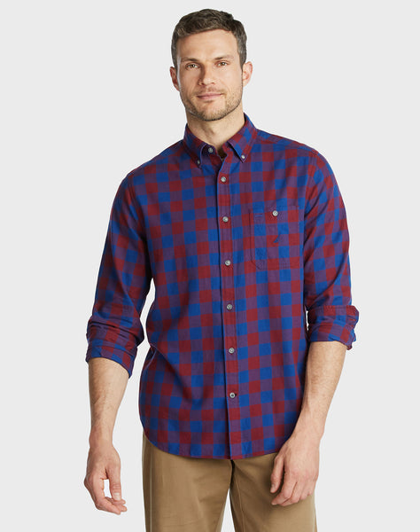 Classic Fit Brushed Twill Shirt In Large Gingham