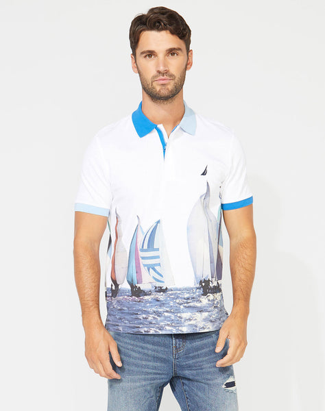 CLASSIC FIT NAUTICAL PRINT POLO