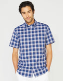 CLASSIC FIT WRINKLE RESISTANT PLAID SHIRT