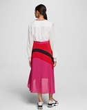 COLOR-BLOCK SKIRT