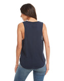 COTTON BASICS SEAMED SHIRTTAIL MUSCLE TANK
