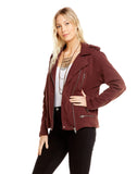 COTTON FLEECE MOTO JACKET