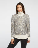 Cozy Knit Zip Up Funnel Neck Pullover
