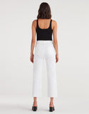 Cropped Alexa With Cut Off Hem In White Runway