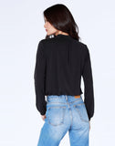 Cropped Mock Neck Top