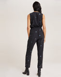 Cross Front Star Stamp Jumpsuit
