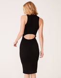 Cut Out Back Mesh Dress