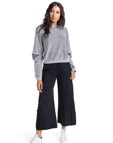Dark And Light Crop Pant