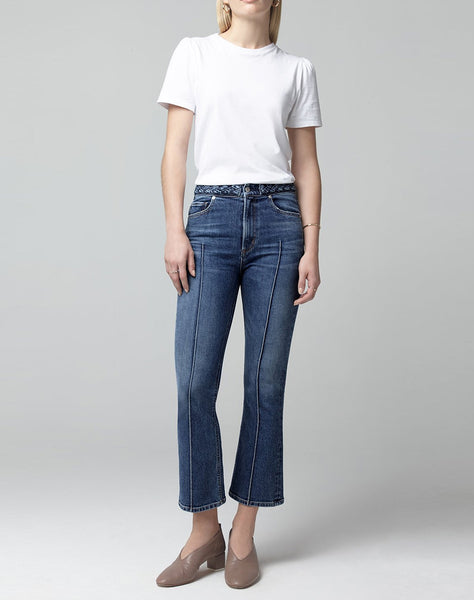 Demy Cropped Flare Denim in All or Nothing
