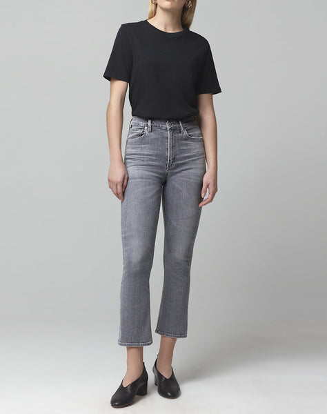 Demy Cropped Flare Denim in Cosmic