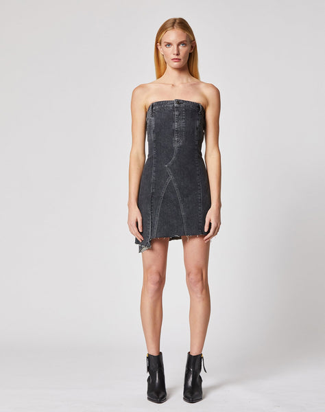 Denim Folded Mini Dress
