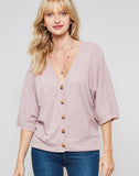 Dolman Sleeves Button Down