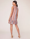 Down To Earth Striped Shift Dress