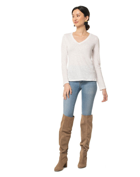 Easy V-neck Long Sleeve Tee
