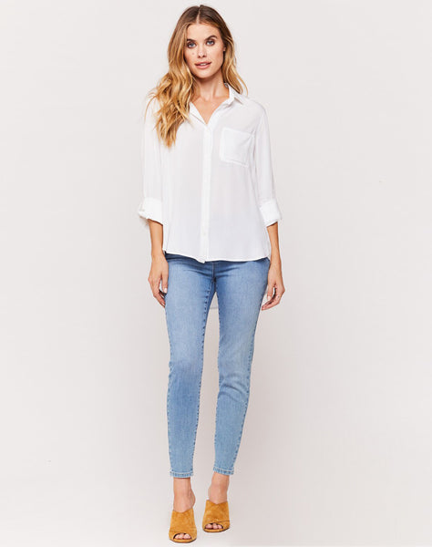 Elisa White Button-up Shirt