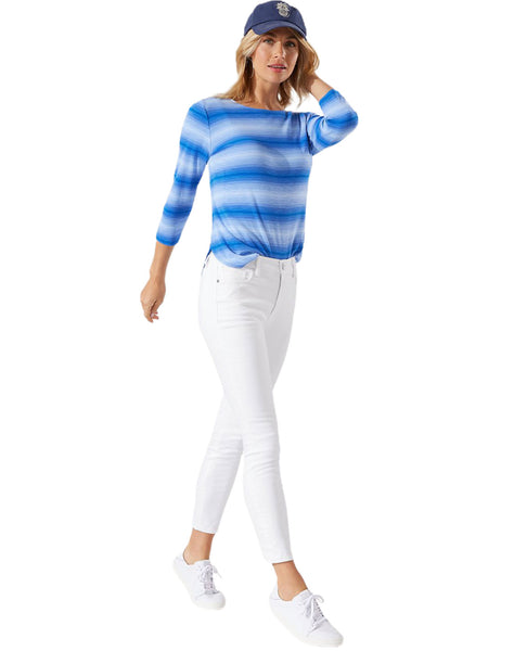 Ella Twill High-Rise Ankle Jeans