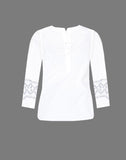 EMBROIDERED POPOVER TOP