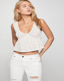 Empire Waist Flounced Top