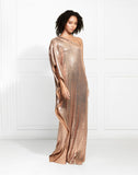 EXCLUSIVE Hero One Shoulder Fluid Sequin Caftan
