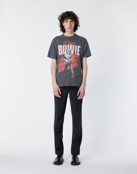 Faded black T-shirt with David Bowie print