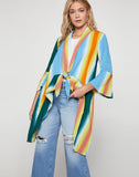 Faded Stripe Cover-Up Jacket