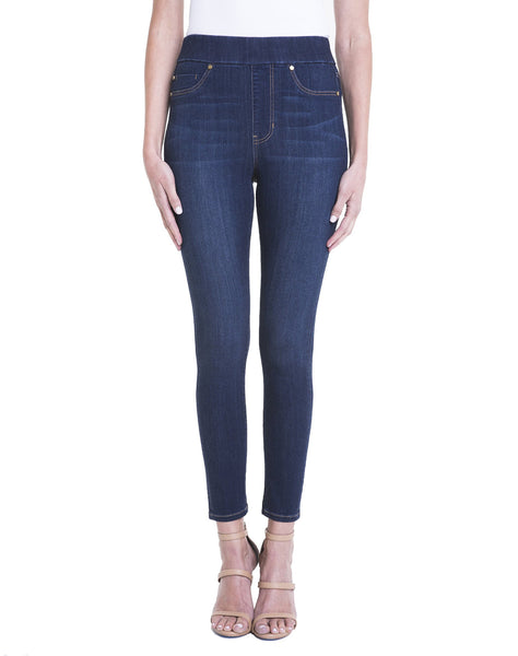 FARRAH HIGH RISE PULL-ON ANKLE HIGH PERFORMANCE DENIM