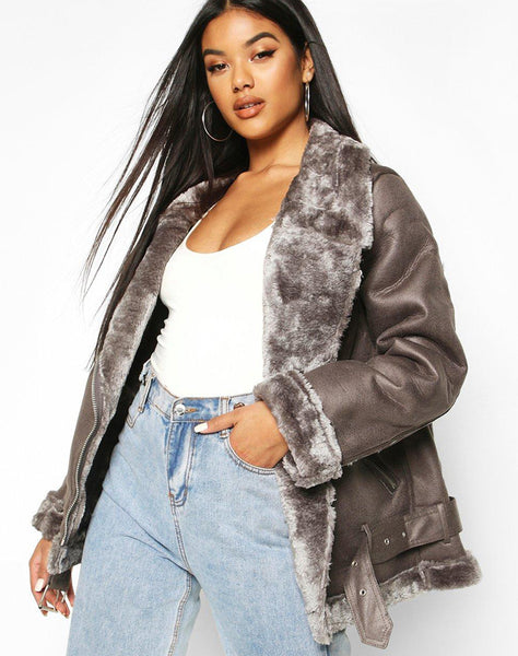 Faux Fur Lined Aviator