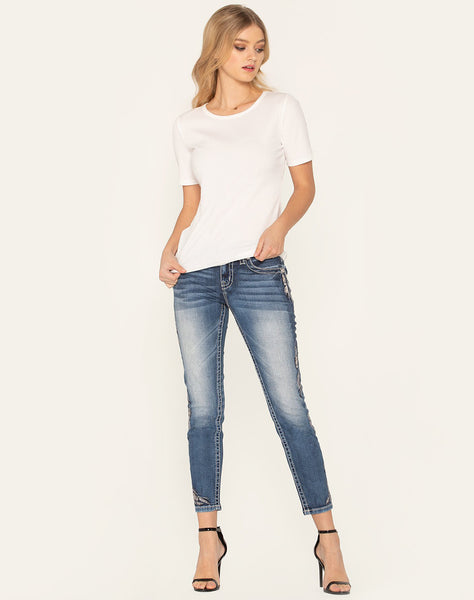 Feathered Bliss Skinny Jeans