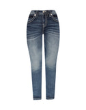 FEATHERED FEELING SKINNY JEANS