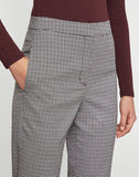 Fitted Plaid Trouser