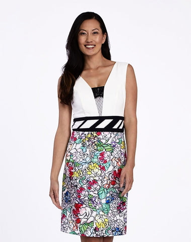 Floral Sheath Dress...
