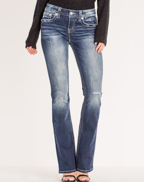 FLORAL HARMONY BOOTCUT JEANS
