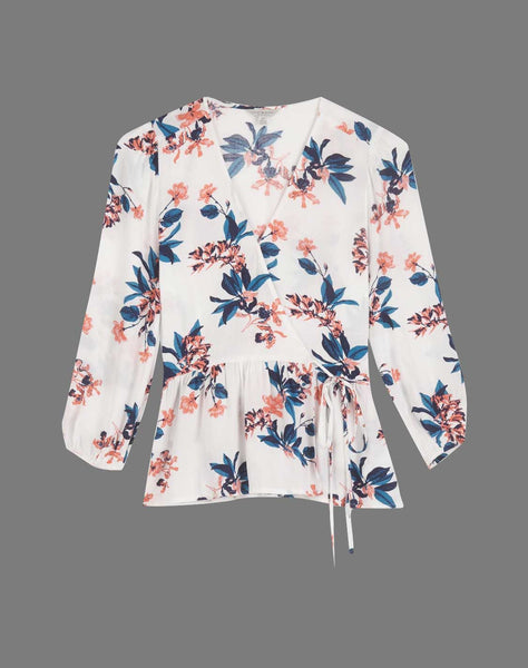 Floral Printed Charlie Wrap Top