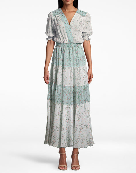 Flower Dust Combo Maxi Dress