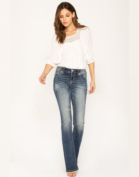FORBIDDEN LOVE BOOT CUT JEANS