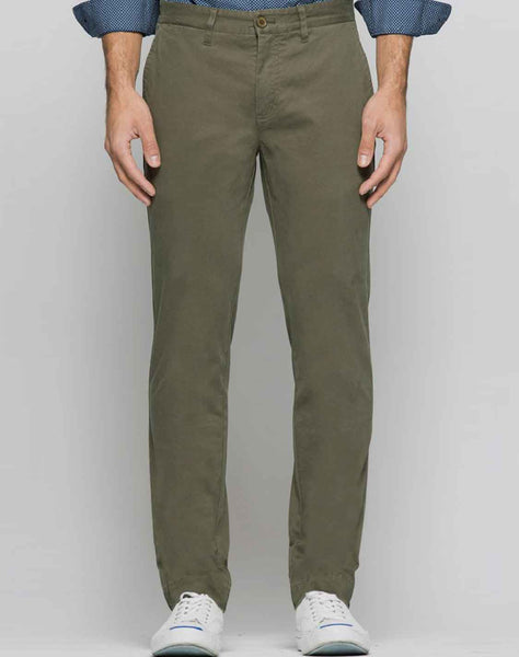 Forest Green Bowie Stretch Straight Chino Pant